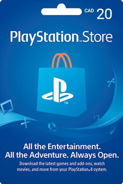 PlayStation Network Card $20 (Canada) - Email Delivery