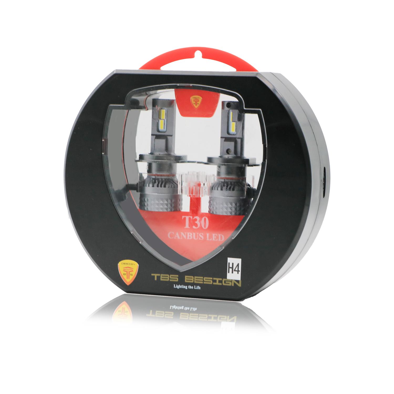Tobys T30 Canbus H4 LED Headlight Bulbs 120W, 6500K, ZES Technology, 11000LM , Conversion KIT