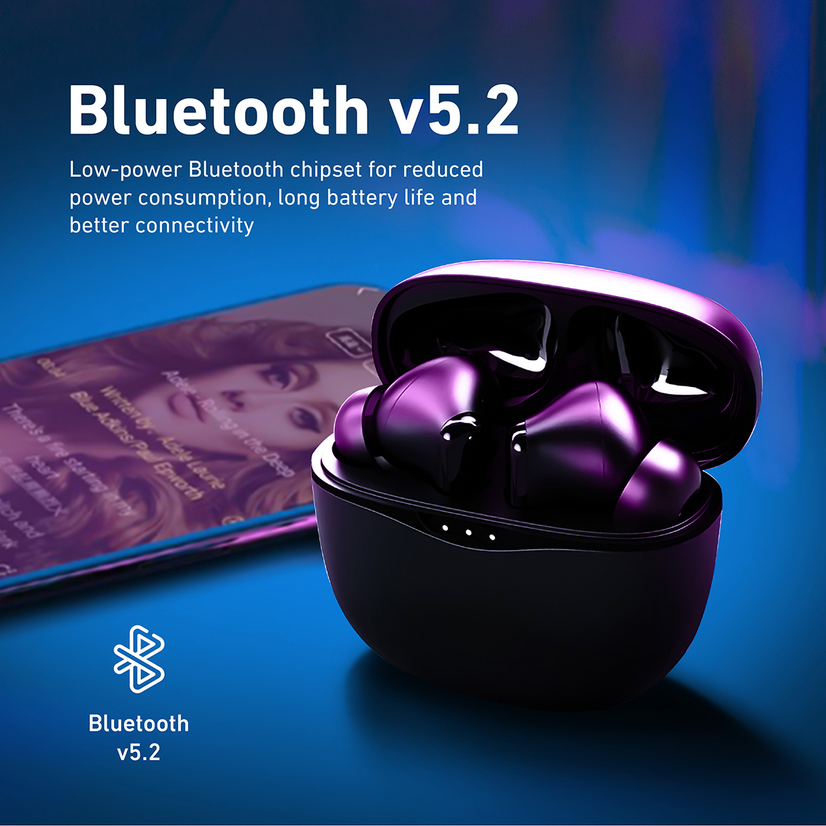 Promate True Wireless Earbuds, In-Ear Hybrid Active Noise Cancelling Bluetooth v5.2 Earphones with Magnetic Closure Charging Case, Mic, IPX6 Water Resistance, Touch Control and 15.5H Playtime for iPhone 12, Samsung S21, iPod, Hybrid-ANC White