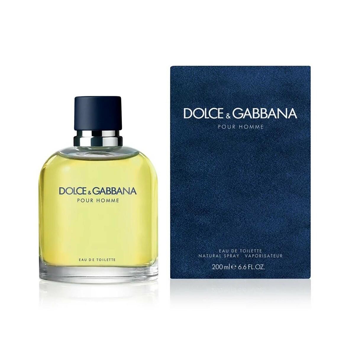 Dolce & Gabbana Pour Homme Eau De Toilette For Men 200ml