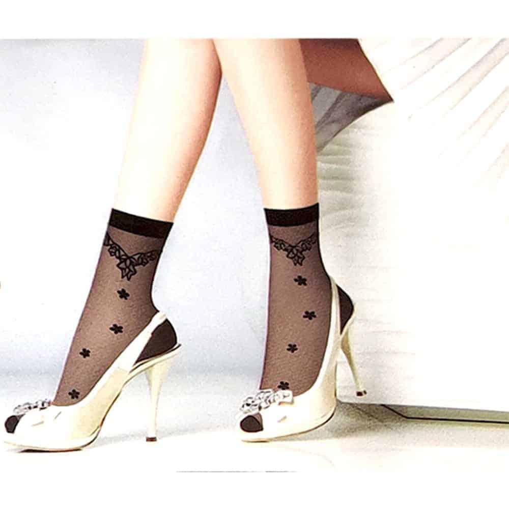 Women's Fashionable Dress Socks 10 Pairs - Black