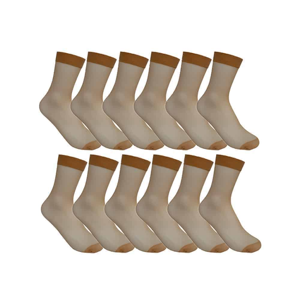 Women's Black Sheer Ankle Socks 12 Pairs
