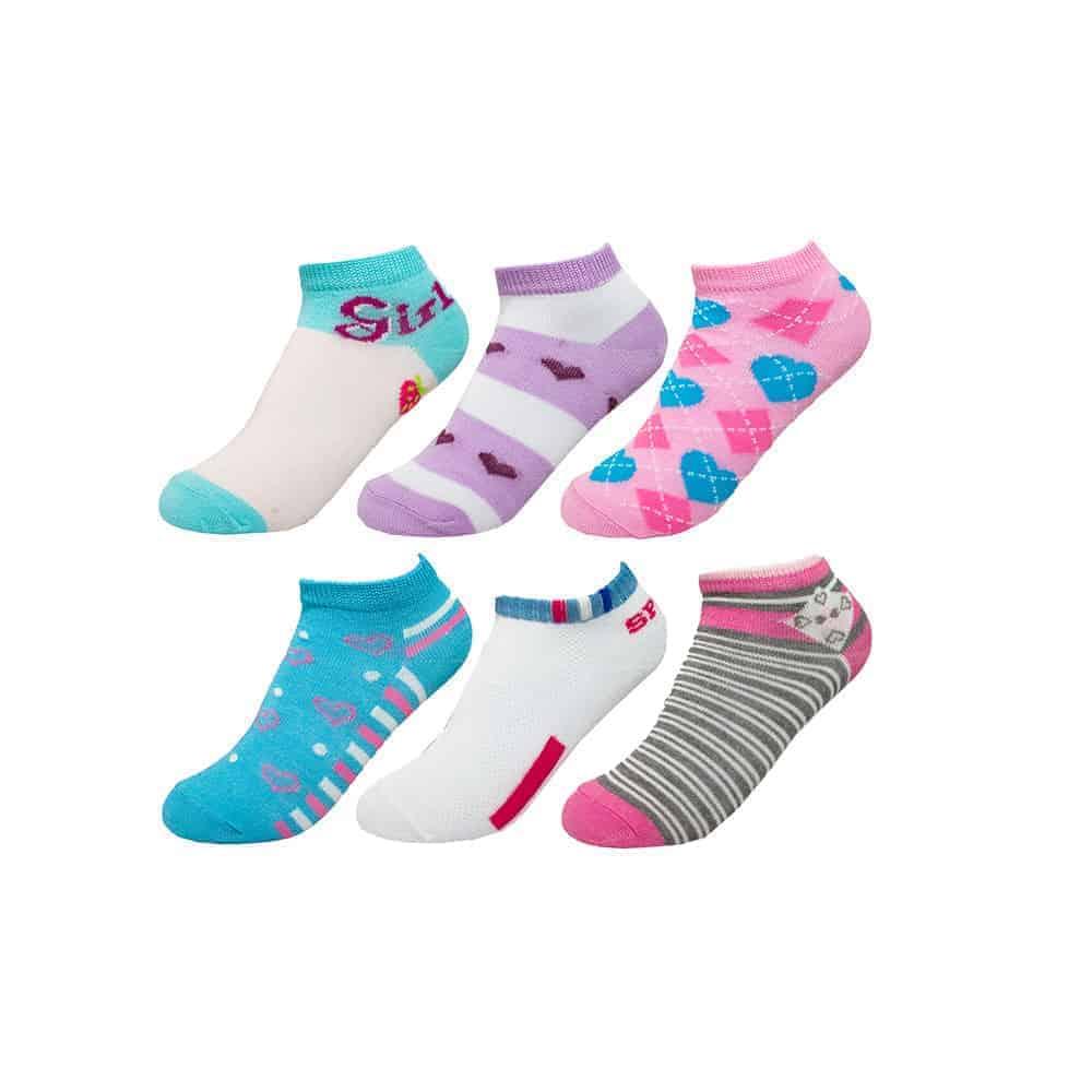 Fabrik Girls 12 Pairs Ankle Shorty Socks