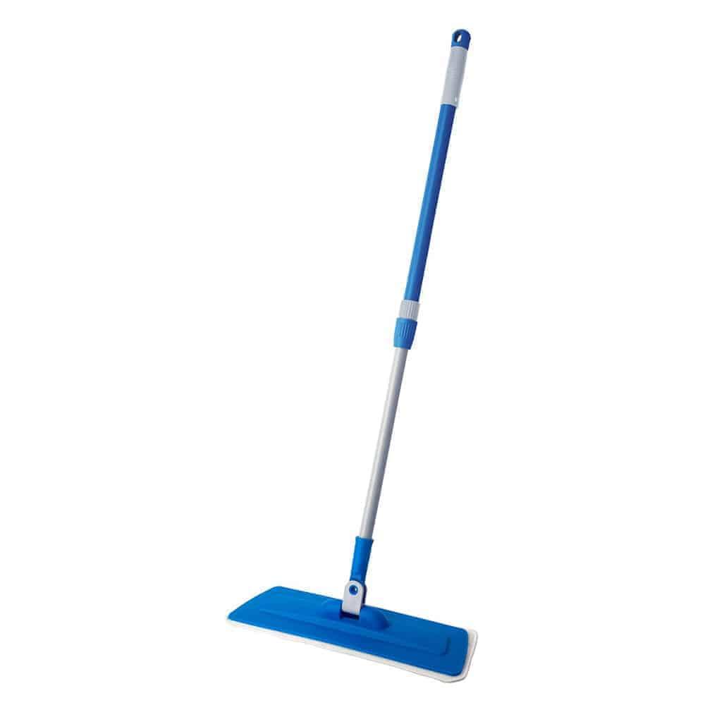 Wet Flat Mop 40 CM Microfiber Mop Heavy Duty Floor Mop With 77-107 CM Telescopic Handle