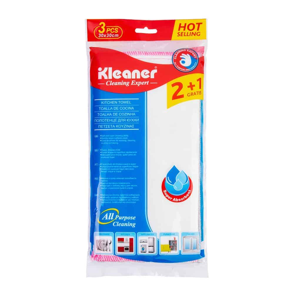 Kleaner Kitchen Towels, 30x30 Cm 3 Pack Dish Cloths for Washing Dishes Dish Rags for Drying Dishes Kitchen Wash Clothes and Dish Towels