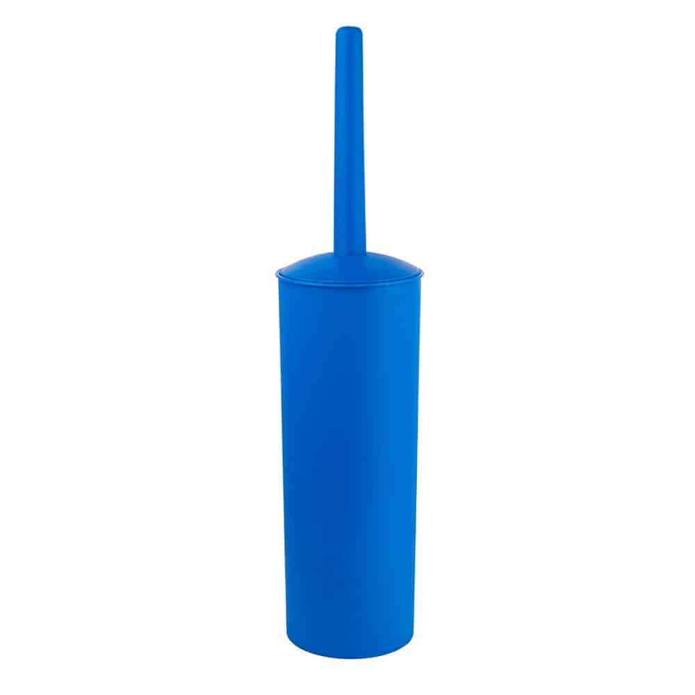 Kleaner Toilet Brush and Holder, Good Grip Toilet Brush Compact Toilet Bowl Brush Set with Strong Bristles, Long Handle, Deep Cleaning (Blue)