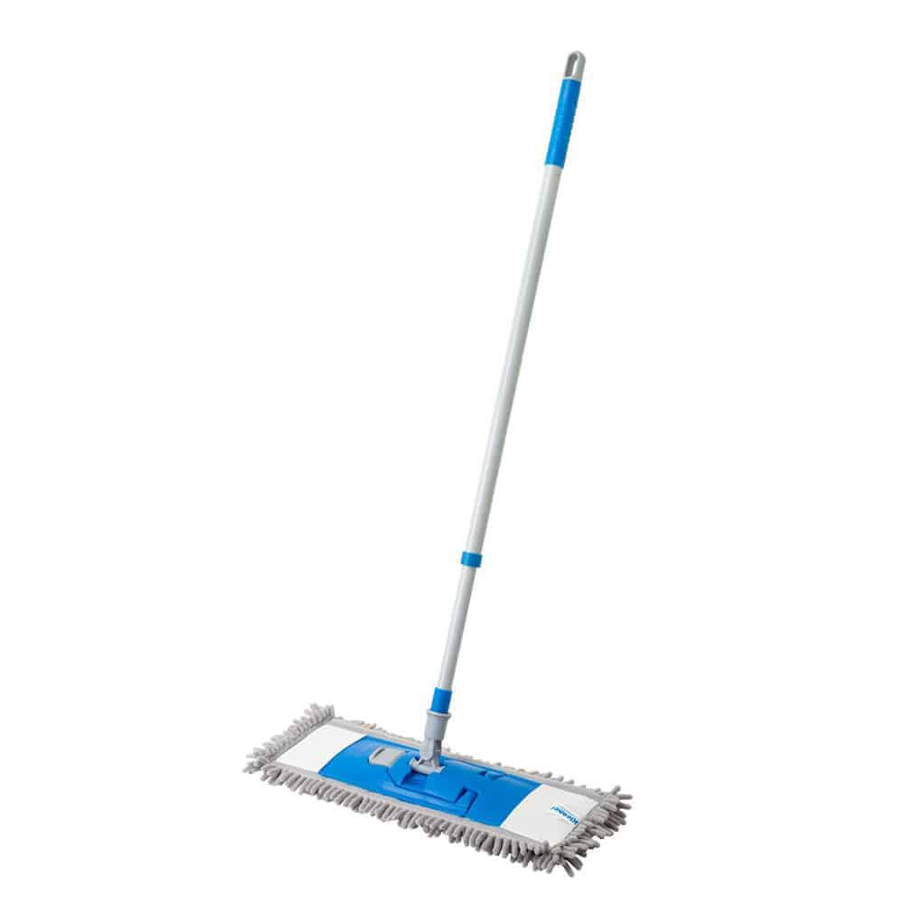 Microfiber Mop Floor Cleaning System - Perfect Cleaner for Hardwood, Laminate & Tile with 74-130 CM Telescopic Metal Handle for Wood, Walls, Vinyl, & Kitchen