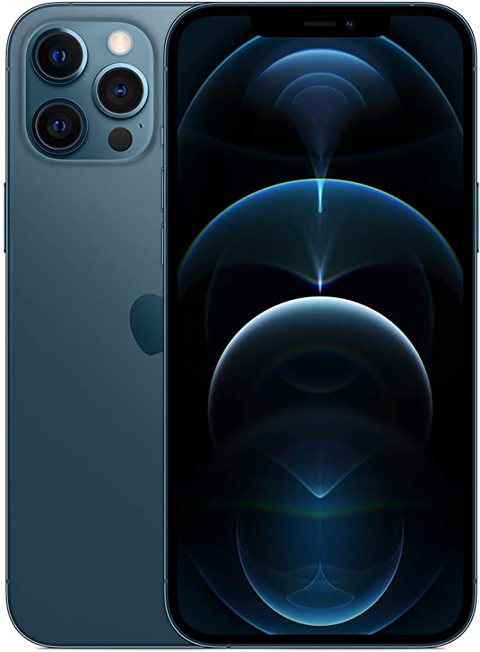 Apple iPhone 12 Pro Max with Facetime - 256GB, 5G, Pacific Blue - International Version