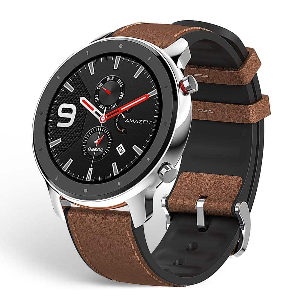 """Amazfit GTR Smartwatch, Smart Notifications, 1.39"""" AMOLED Display, 24/7 Heart Rate Monitor, 24-Day Battery Life, 12-Sport Modes (47mm, GPS, Bluetooth), Aluminum Alloy"""