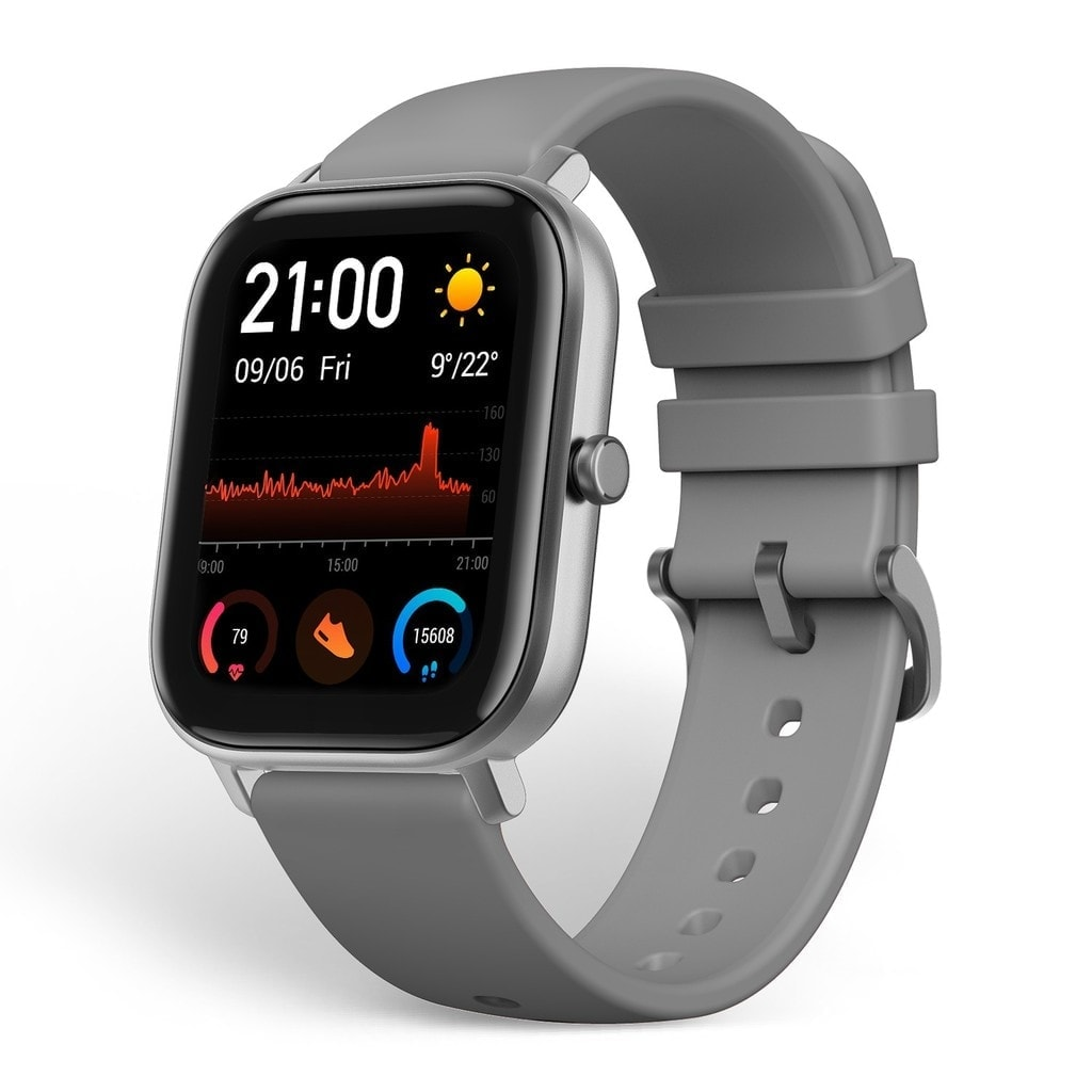 Amazfit GTS Smartwatch with 14-Day Battery Life,1.65 Inch AMOLED Display, Customizable Widgets, Slim Metal Body, 5 ATM Water Resistance, 24/7 Heart Rate and Activity Tracking, Obsidian Black