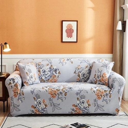 DEALS FOR LESS - Sofa Cover, Love Seat Stretchable Couch Slipcover, Arm chair cover, furniture protector from Pets, Dogs, Cats, Kids mess for living room, Bedroom, Floral Design.