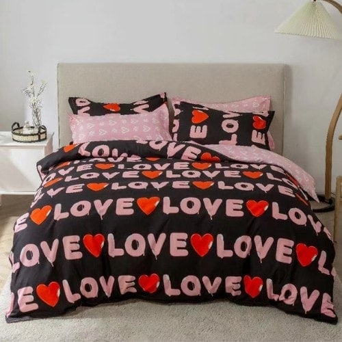 dealsforless-duvet-bedsheet-pillow-love