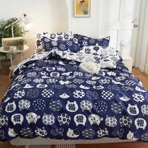 dealsforless-duvet-bedsheet-pillow-cat