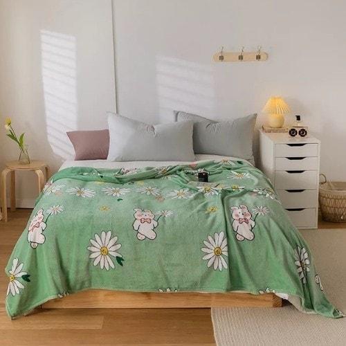 dealsforless-soft-fleece-blanket-green