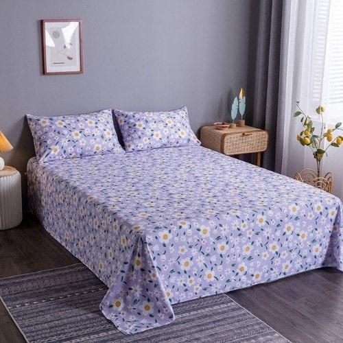 DEALS FOR LESS - Bedsheet Set Of 3 Pieces, Daisies Design