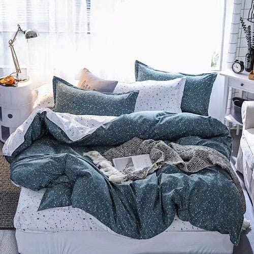 DEALS FOR LESS - Queen/Double Size, Duvet Cover, Bed Sheet Set of 6 Pieces, Dots Design, 1 Duvet cover + 1 bedsheet + 4 pillow covers.