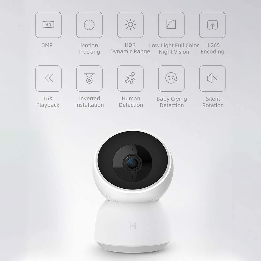 IMILAB Home Security Camera A1 1296P FHD Video WiFi IP Cam Infrared Night Vision Human Detection Baby Crying Camera