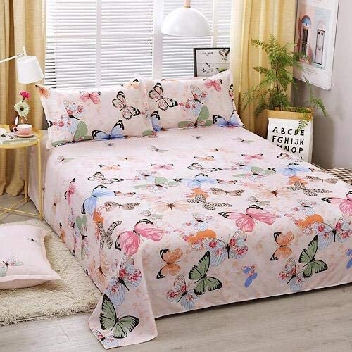 DEALS FOR LESS - Bedsheet Set Of 3 Pieces, Pink Butterfly Design
