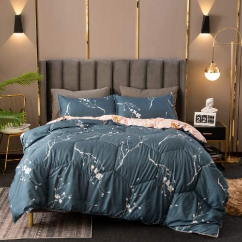 DEALS FOR LESS - Comforter Set of 4 Pieces, Sacoor Design, 1 Comforter + 1 Bedsheet + 2 Pillow Covers