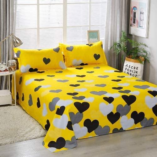 dealsforless-bedsheet-yellow-heart-design