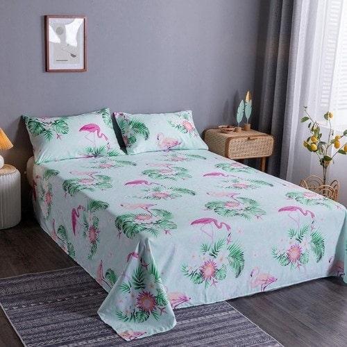 dealsforless-bedsheet-flamingo-design
