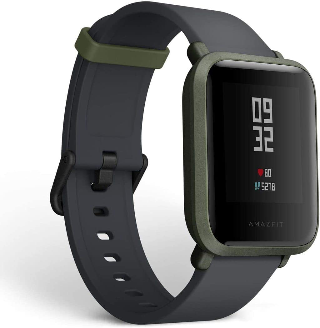 Amazfit BIP smartwatch by Huami with all-day heart rate & activity tracking, sleep monitoring, GPS, 30-day battery life, Bluetooth (Kokoda Green), One Size