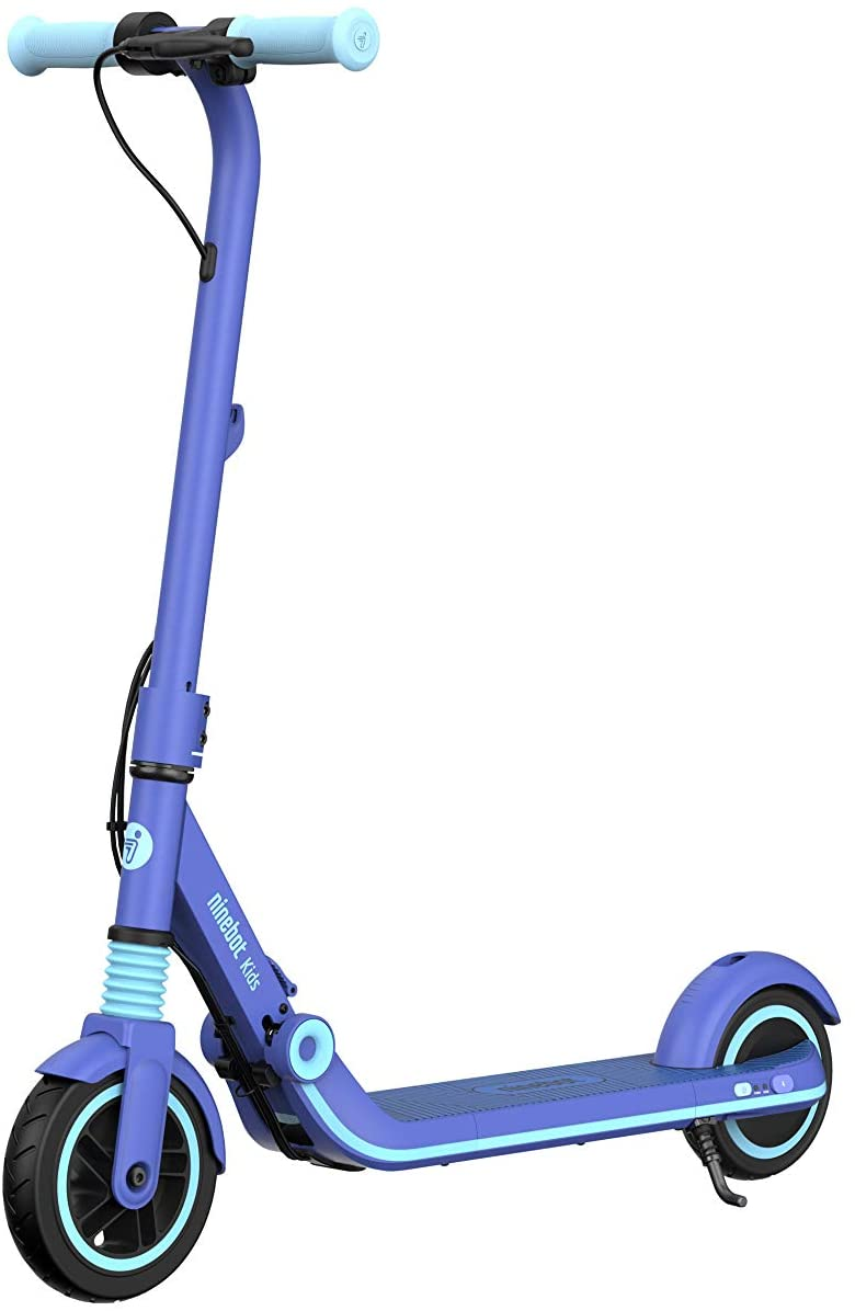 Ninebot eKickScooter ZING E8 Electric Kick Scooter for Boys and Girls, Lightweight and Foldable - Blue