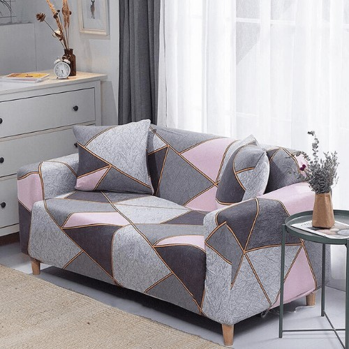 DEALS FOR LESS - Sofa Cover, Stretchable Couch Slipcover, Arm chair cover, furniture protector from Pets, Dogs, Cats, Kids mess for living room, Bedroom, Geometric Design.