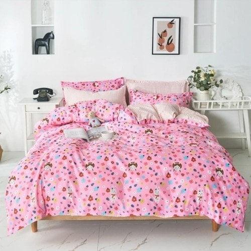 dealsforless-duvet-bedsheet-pillow-pink