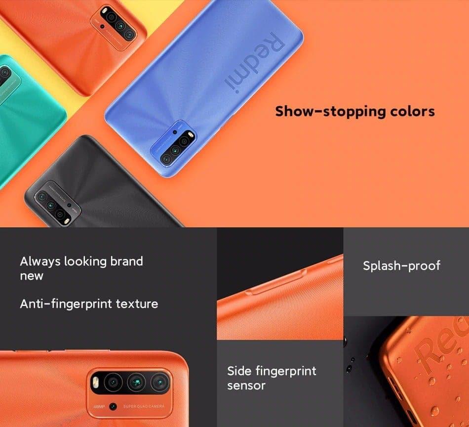 """Global Version Xiaomi Redmi 9T Smartphone Snapdragon 662 48MP Quad Camera 6000mAh 6.53"""" FHD+ Display"""