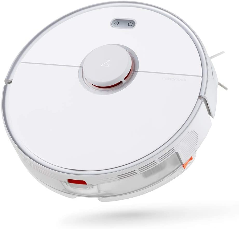 Roborock S5 MAX Robot Vacuum and Mop Cleaner, Self-Charging Robotic Vacuum, Lidar Navigation, Selective Room Cleaning, No-mop Zones with Alexa (White)