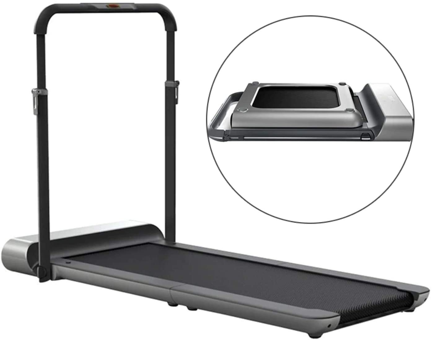 WalkingPad Kingsmith R1 Pro Treadmill Foldable Running Walking Pad with Remote Control | speed 0.5-10 km/h | Walking in the Office, Home |Quiet Operation | English Version, Black