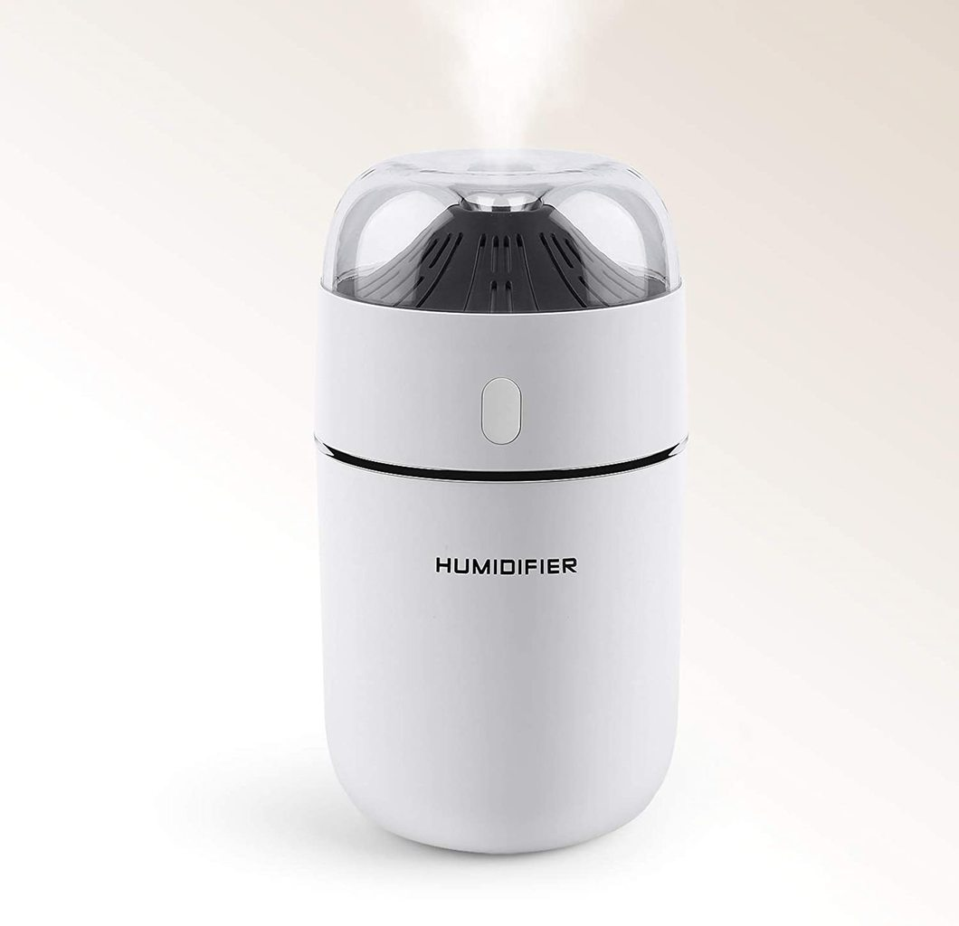 Portable Mini Humidifier, Benks 320ml Small Cool Mist Humidifier, USB Personal Desktop Humidifier for Baby Bedroom Travel Office Home, Auto Shut-Off, Super Quiet, White