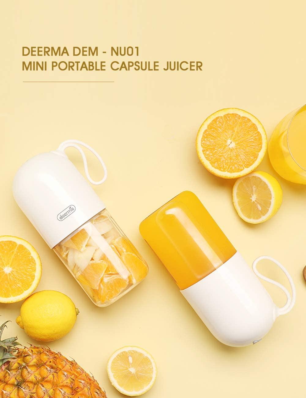 Deerma 300ml Portable Electric Juicer Blender Multipurpose Wireless Mini USB Rechargable Juice Cup Cut Mixer for Travel