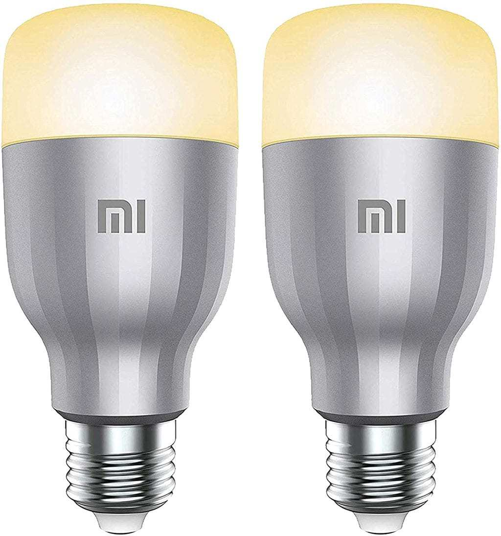 2PCS Package Global Version Xiaomi MI Smart LED Bulb Colorful 800 Lumens 10W E27 Lamp Voice Control Work With Google Assistant Alexa