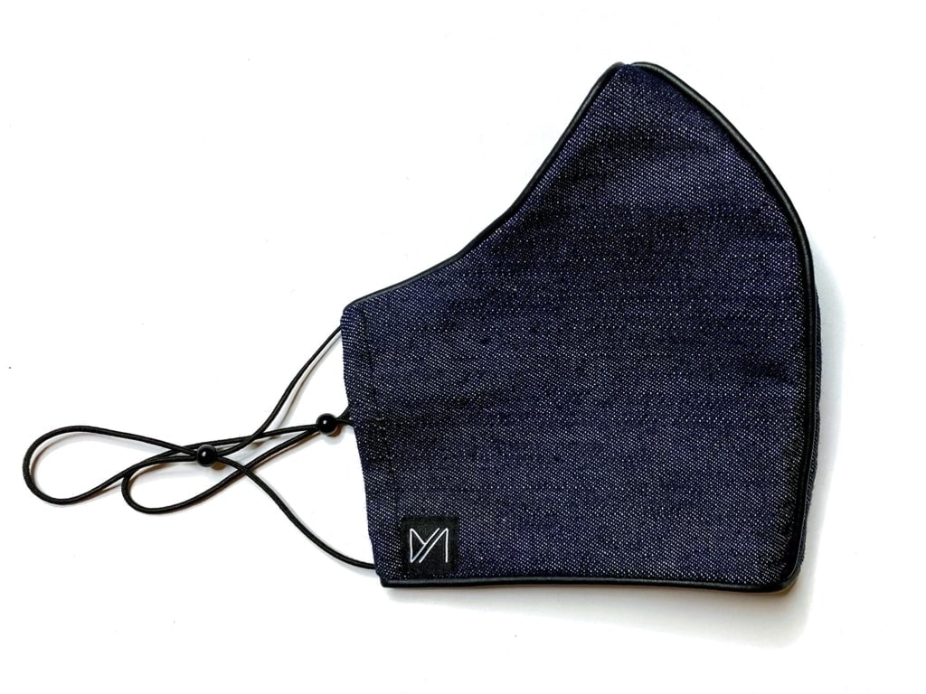 Just Masks JMD-103 Denim With Black Leather Piping