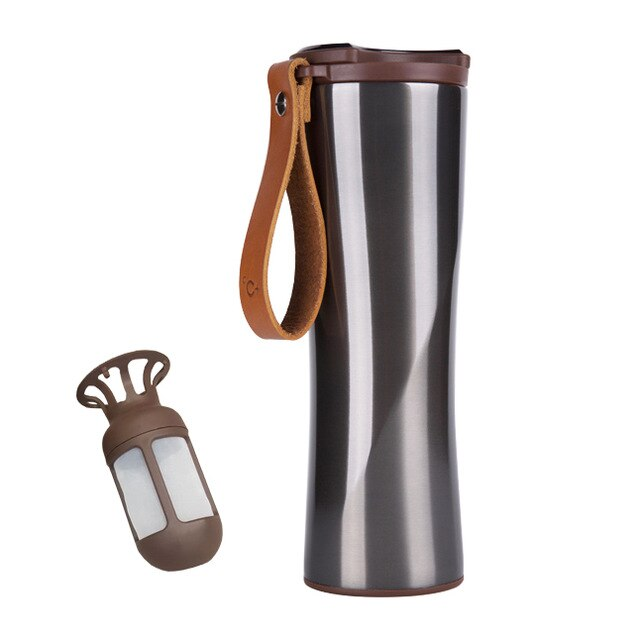 Hot Youpin KKF Coffee Cup Vacuum Thermos Portable 304 Stainless Steel OLED Touch Screen Water Bottle With Coffee Brewer