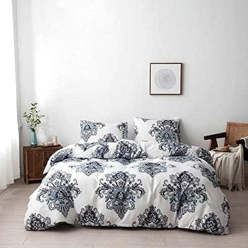 DEALS FOR LESS - King Size, Duvet Cover, Bed Sheet Set of 6 Pieces,Bohemia Design