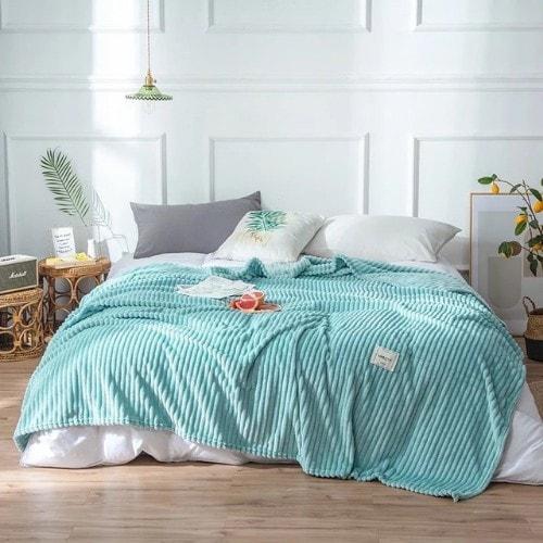Deals for Less - Soft Fleece Blanket, Double Size, Plain Sky blue color