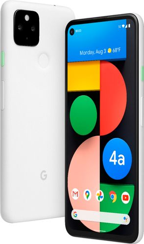 Google Pixel 4A 5G Android Mobile phone 6GB RAM - 128GB Clearly White, 1 SIM + E-SIM, Adaptive Battery