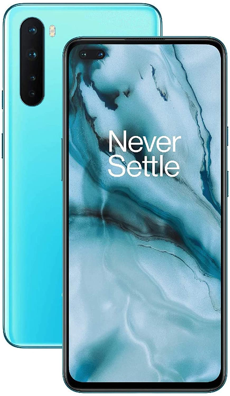 "ONEPLUS NORD 5G 8GB RAM 128GB ROM Smartphone, 6.44"" 90Hz Fluid Display, 48MP Quad Camera, Dual SIM, NFC, Snapdragon 765G, 4115 mAh Warp Charge 30T, Blue"
