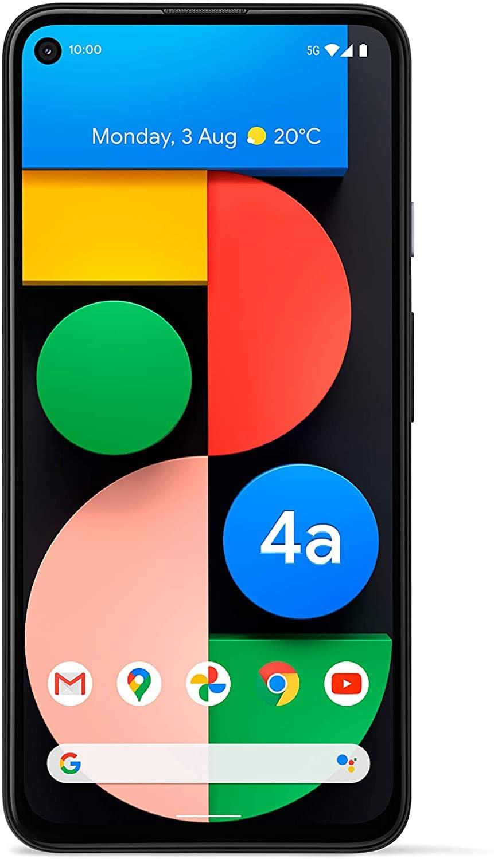 Google Pixel 4A 4G Android Mobile phone 6GB RAM - 128GB Just Black, 1 SIM + E-SIM, Adaptive Battery