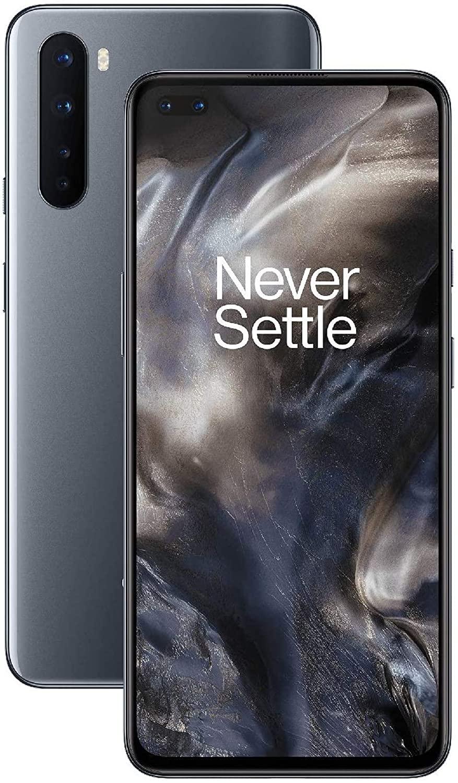 "ONEPLUS NORD 5G 8GB RAM 128GB ROM Smartphone, 6.44"" 90Hz Fluid Display, 48MP Quad Camera, Dual SIM, NFC, Snapdragon 765G, 4115 mAh Warp Charge 30T, Grey"