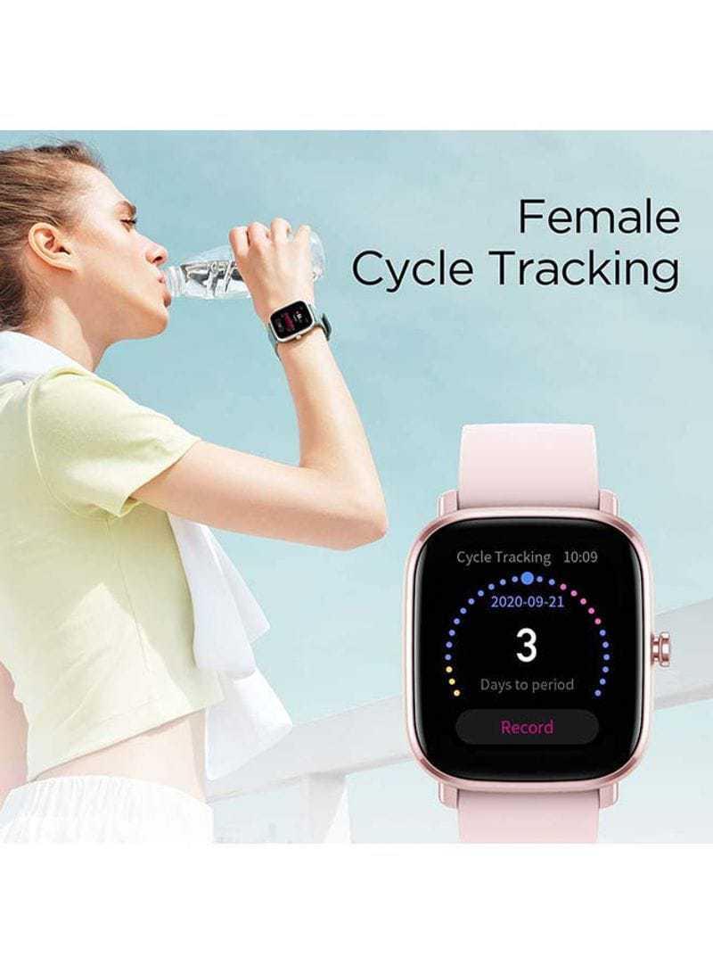 Amazfit GTS 2 Mini Smartwatch With Sp02 level Measurement Midnight Pink