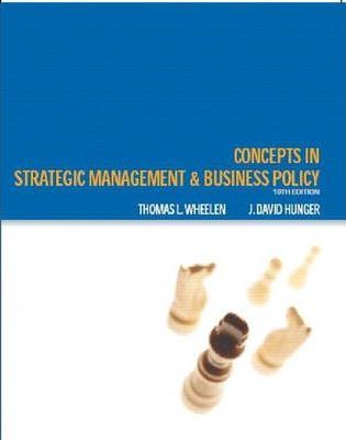 Concepts : Strategic Management and Business Policy