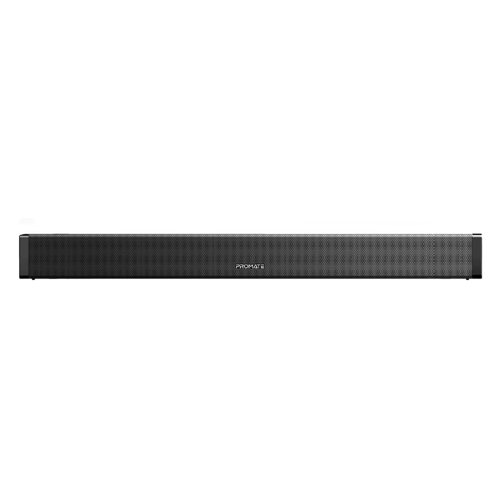 Promate Soundbar Sound System, Premium 20W Bluetooth v5.0 Multipoint Pairing Speaker with Remote Control, 3D Stereo Sound, HDMI (eARC) Support, USB Port, Auxiliary and Optical Input, BluesBar-20