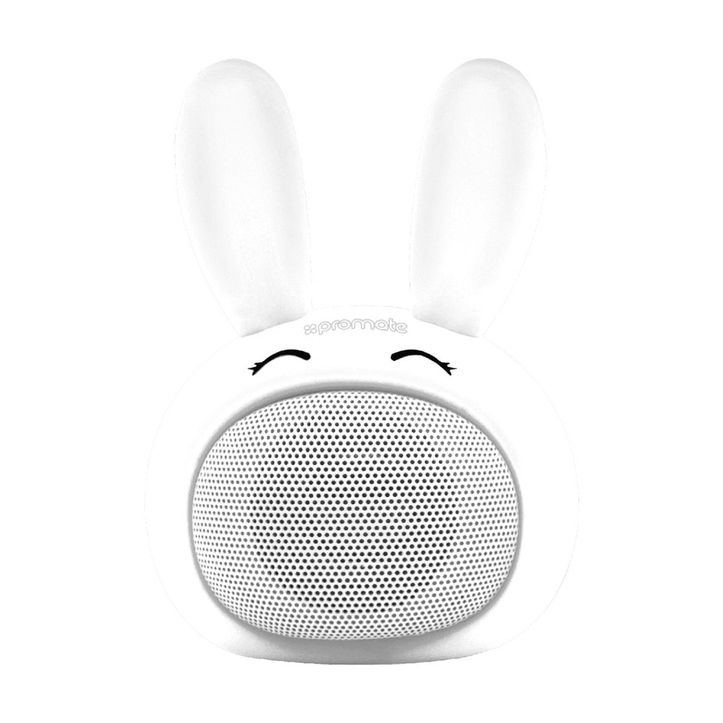 Promate Kids Bluetooth Speaker, Portable Wireless Bluetooth V4.1 Speaker with HD Sound Quality, Hands-free call function and Cute Bunny Design for Bluetooth Enabled Devices, Bunny White