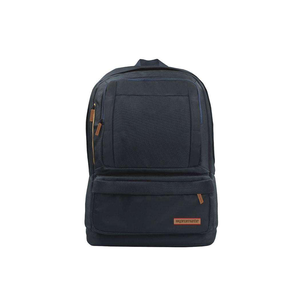 Promate Premium 15.6 inch Laptop Backpack Bag With Multiple Pocket Options, Drake - Blue