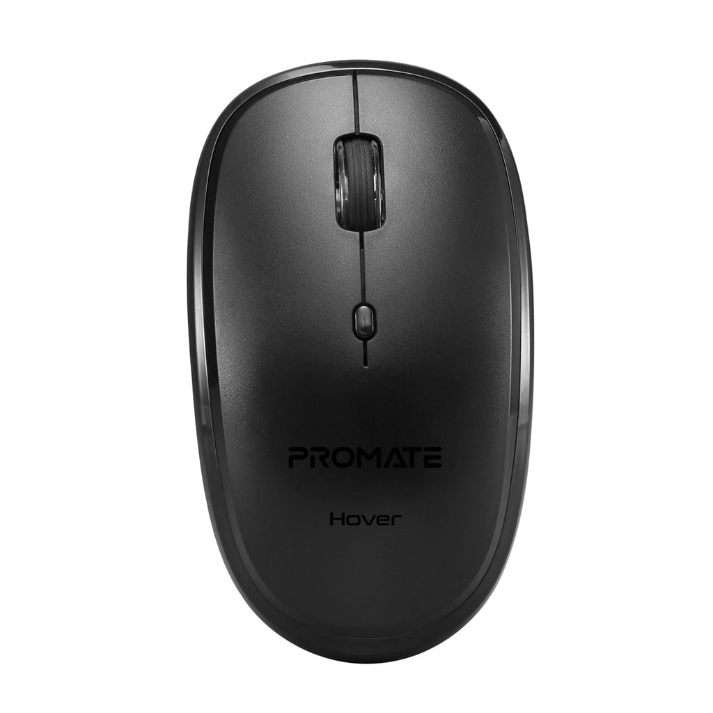 Promate Wireless Mouse, Portable 2.4Ghz Ergonomic Precision Tracking Optical Mouse with USB Nano Receiver, 3 Adjustable Dpi Levels and Low Power Consumption for Laptops, iMac, PC, Desktop, Hover