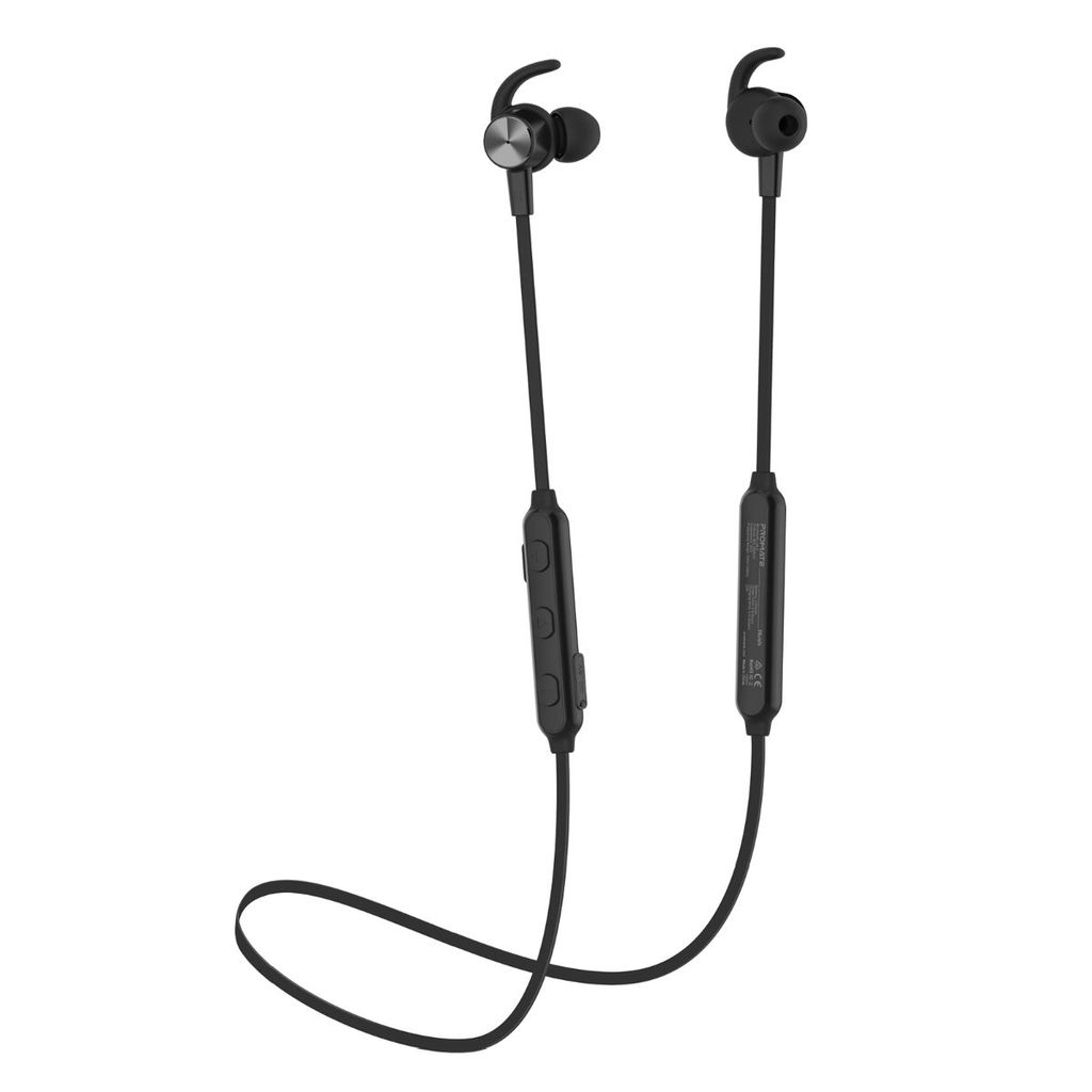 Promate Wireless Active Noise Cancelling Headphone, Premium IPX 4 Water Resistant Sporty Secure-Fit Bluetooth Earbuds with Built-In Mic and Multi-Point Paring for Workout, Running, Smartphones, iPod, Hush